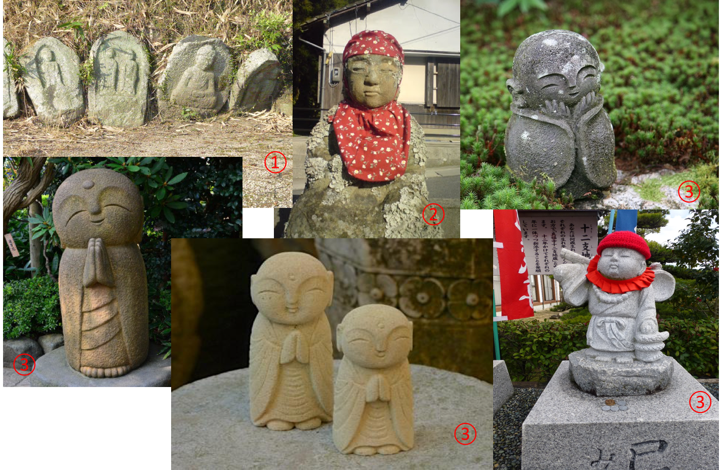 different types of O-Jizo-San